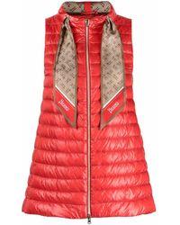 Herno Polyester Vest - Red