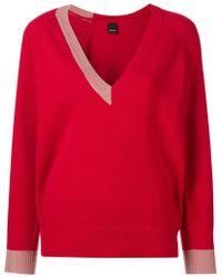 Pinko Red Cashmere Jumper