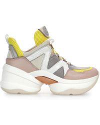 Michael Kors - Beige Leather Sneakers - Lyst