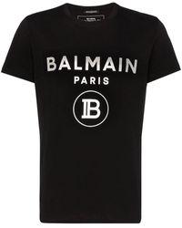 Balmain - Foil Logo T Shirt - Lyst