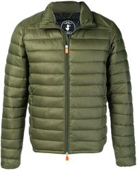Save The Duck Padded Zip-front Jacket - Green