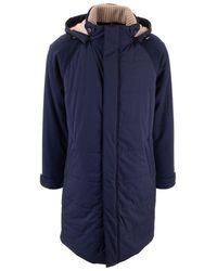 Loro Piana Blue Polyamide Coat
