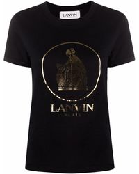 Lanvin T-shirt con stampa - Nero