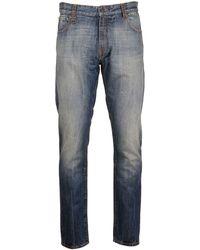 Moncler Men's Blue Cotton Jeans