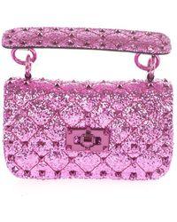Valentino Garavani Polyurethane Handbag - Purple