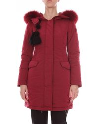 Peuterey Burgundy Polyamide Trench Coat - Red