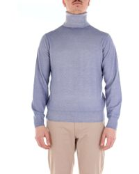 Cruciani - Light Blue Cotton Jumper - Lyst