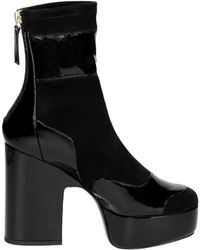 Pierre Hardy - Black Suede Ankle Boots - Lyst