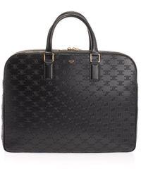 Celine Leather Briefcase - Black