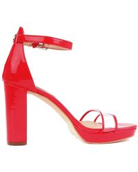 Guess Synthetic Fibres Sandals - Red