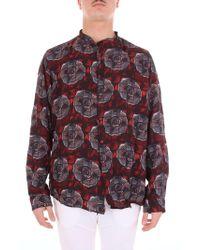 Alessandro Dell'acqua Red Cotton Shirt
