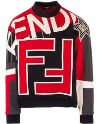 Fendi Other Materials Sweatshirt - Red