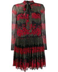 RED Valentino - Black Polyester Dress - Lyst