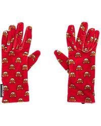 Moschino Red Polyamide Gloves