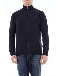 Drumohr Superfine Merino Wool Zip Jumper - Blue