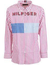 Tommy Hilfiger Men's Re0re00235901 Pink Cotton Shirt