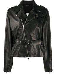 Maison Margiela Leather Outerwear Jacket - Black