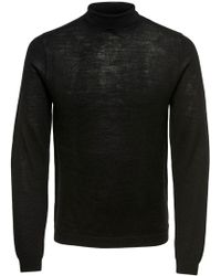 Only & Sons Black Wool Jumper