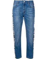 Stella McCartney - Blue Cotton Jeans - Lyst