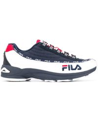 Fila - Blue Synthetic Fibers Sneakers - Lyst