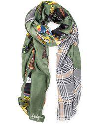 Desigual Green Polyester Foulard