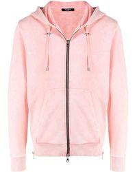 Balmain Kapuzenjacke mit Strand-Print - Pink