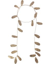 Max Mara Metal Necklace - Metallic