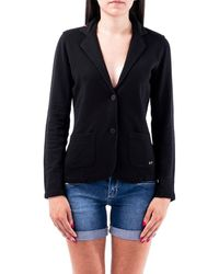 Sun 68 Cotton Blazer - Black