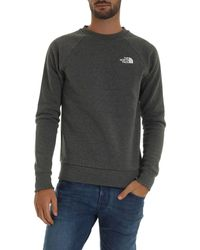 The North Face Gray Sweatshirt With White Logo