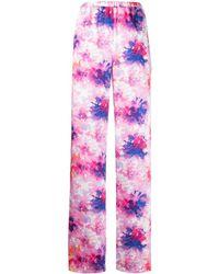 MSGM Hose mit Blumen-Print - Pink