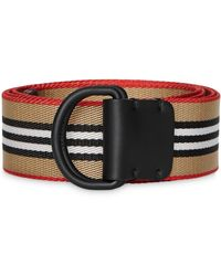 Burberry Striped Belt - Natural