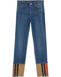 Burberry Cotton Jeans - Blue