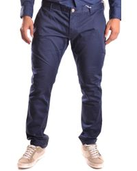 AT.P.CO Blue Cotton Trousers