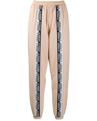 adidas Pink Synthetic Fibres JOGGERS