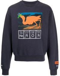 Heron Preston Sweatshirt mit Periodensystem-Print - Lila