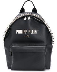 Philipp Plein Leather Backpack - Black