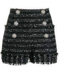 Balmain Cotton Shorts - Black