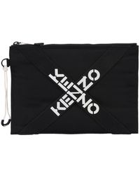 KENZO Polyester Pouch - Black