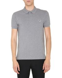 PS by Paul Smith Cotton Polo Shirt - Grey