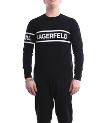 Karl Lagerfeld Crewneck Jumper - Black