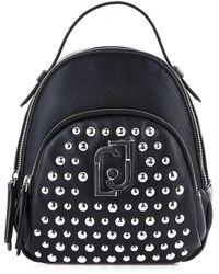 Liu Jo Black Faux Leather Backpack