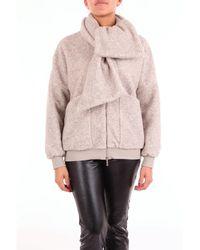 Manila Grace Beige Synthetic Fibres Coat - Natural