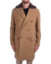 Eleventy Beige Wool Coat - Natural