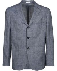 Boglioli Grey Wool Blazer - Gray