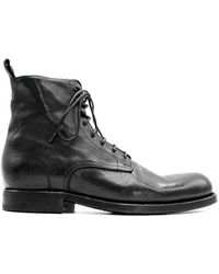 Pantanetti 12822e Leather Ankle Boots - Black