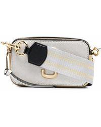 Marc Jacobs Borsa a spalla snapshot oro e bianco - donna - Multicolore