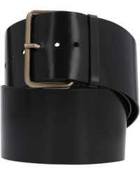 Ann Demeulemeester Black Leather Belt