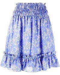 KENZO Viscose Skirt - Blue