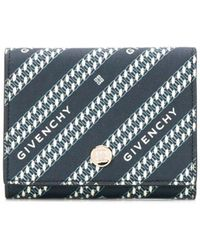 Givenchy Portemonnaie mit Logo-Print - Blau