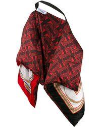 Burberry Red Silk Scarf